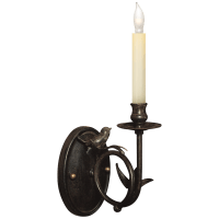 Perching Bird Sconce in Rust with Verdis Accents