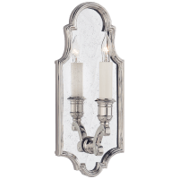 Sussex Small Framed Sconce in Polished Nickel with Antique Mirror