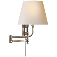 Pimlico Swing Arm in Polished Nickel with Natural Paper Shade