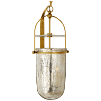 Lorford Medium Sconce in Gilded Iron with Antiqued Mercury Glass