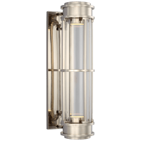 """Gracie 19"""" Linear Sconce in Polished Nickel with Clear Glass"""