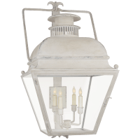 Holborn Large Bracketed Wall Lantern in Old White with Clear Glass