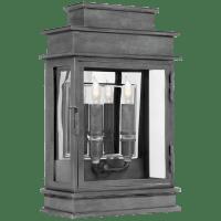 Linear Lantern Short in Weathered Zinc
