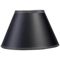 """3"""" x 6"""" x 5"""" Black Paper Candle Clip Shade"""