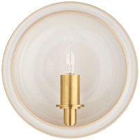 Leeds Small Round Sconce in Ivory