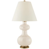 Chambers Medium Table Lamp in Ivory with Natural Percale Shade