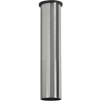 """24""""MinimalistDownrod- Brushed Steel"""