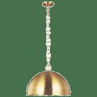 Whare Large Pendant Burnished Brass