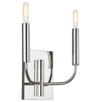 Brianna Double Sconce Polished Nickel