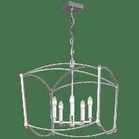 Thayer Wide Lantern Polished Nickel
