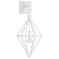 Afton Single Sconce in Plaster White