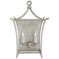 Aria Large Wall Lantern in Burnished Silver Leaf