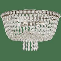 Navona Large Basket Flush Mount in Burnished Silver Leaf and Crystal