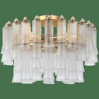 "Lorelei 18"" Semi-Flush Mount in Gild with Clear Glass"