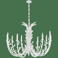 Silva Grande Chandelier in Plaster White