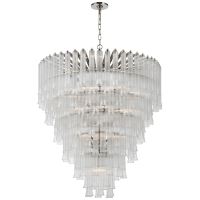 Lorelei X-Large Waterfall Chandelier in Polished Nickel with Clear Glass
