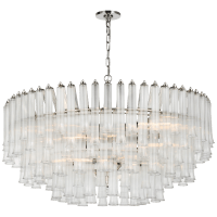 Lorelei X-Large Chandelier in Polished Nickel with Clear Glass