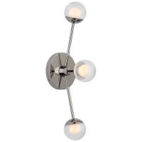 """Alloway 19"""" Triple Linear Sconce in Polished Nickel with Clear Glass"""