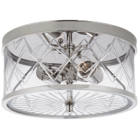 Darcy Small Flush Mount in Polished Nickel with Crystal
