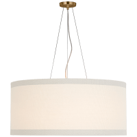 Walker Large Hanging Shade in Gild with Linen Shade