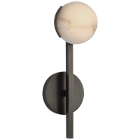 Pedra Petite Tail Sconce in Bronze with Alabaster