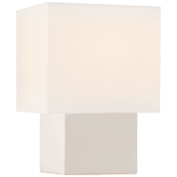 Pari Petite Square Table Lamp in Ivory with Linen Shade