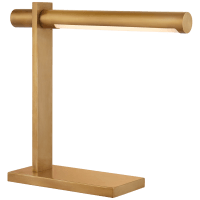 Axis Desk Lamp in Antique-Burnished Brass