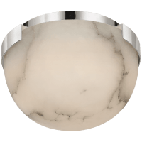 "Melange 5"" Solitaire Flush Mount in Polished Nickel with Alabaster Shade"