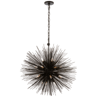 Strada Medium Round Chandelier in Aged Iron