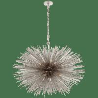 Strada Medium Oval Chandelier in Burnished Silver Leaf