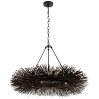Strada Ring Chandelier in Aged Iron