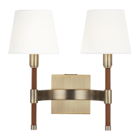 Katie Double Sconce Time Worn Brass