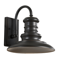 Redding Station Medium LED Lantern Restoration Bronze Bulbs Inc