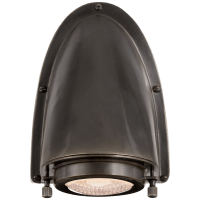 Grant Small Sconce in Bronze with Industrial Prismatic Glass