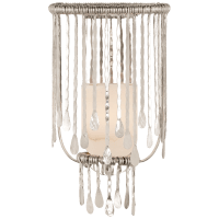 Kayla Medium Sculpted Sconce in Polished Nickel with Alabaster