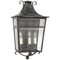 Carrington Medium Sconce in French Rust with Clear Glass