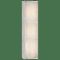 Ellis Medium Linear Sconce in Polished Nickel and Natural Quartz