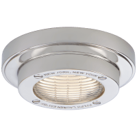 """Grant 4.5"""" Solitaire Flush Mount in Polished Nickel"""
