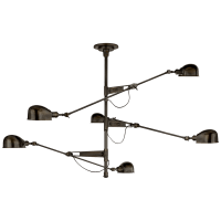 RL '67 Extra Large Triple Arm Chandelier in Bronze