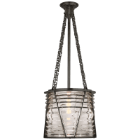Chatham Large Lantern in Bronze with Clear Glass