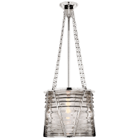 Chatham Large Lantern in Polished Nickel with Clear Glass