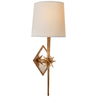 Etoile Sconce in Gilded Iron with Natural Paper Shield