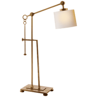 Aspen Forged Iron Table Lamp in Gilded Iron with Natural Paper Shade