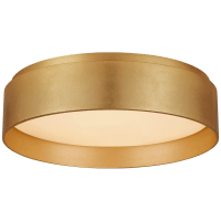 Shaw Small Flush in Gild with White Glass