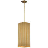 Rivers Medium Fluted Pendant in Soft Brass