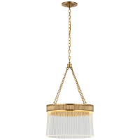 Menil Medium Chandelier in Soft Brass with Crystal Rods