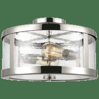 Harrow Medium Semi-Flush Mount Polished Nickel