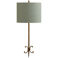 Roswell Sconce in Natural Rust with Blue Linen Shade