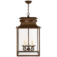 Honore Small Lantern in Antique Zinc