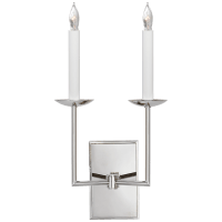 Right Angle Double Sconce in Polished Nickel